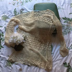 Crochet Swimsuit Cover-Up/ Tunic Top